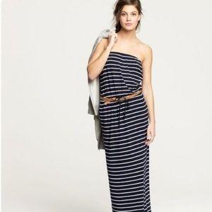 J. Crew Amie Striped Strapless Maxi Dress